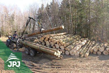 Vyvážecí vlek Vahva Jussi 1500_320 pro pracovní ATV čtyřkolku